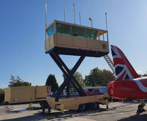 5th Wheel Trailer Mounted Elevating Air Traffic Control Tower