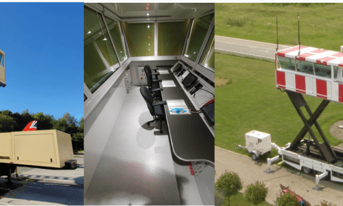 Mobile and Modular Air Traffic Control Towers