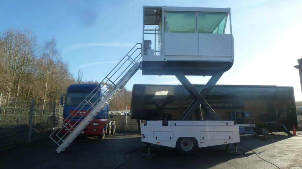 Elevated Compact Tow Bar Trailer by Mobile ATC